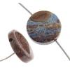 Paisley Jasper (Cobalt) 12mm Coin 14pcs Approx